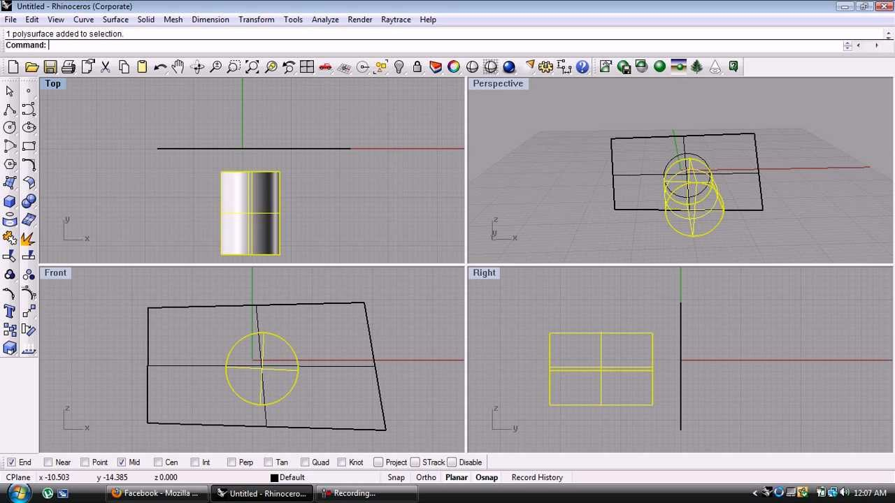 Drawing Lines In Rhino : How to project an object onto a surface in rhino d youtube