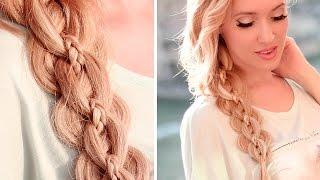 Ажурная коса из 5 прядей ★ Причёска для длинных волос на каждый день