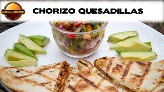 Grill Dome Kamados - Chorizo Quesadillas with Homemade Salsa
