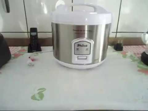 2c6ffaa49 Panela de arroz elétrica Philco Visor Glass - YouTube