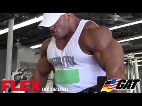Muscle Elevator -  Dennis James & Big Ramy Train Shoulders Preparation #fitne