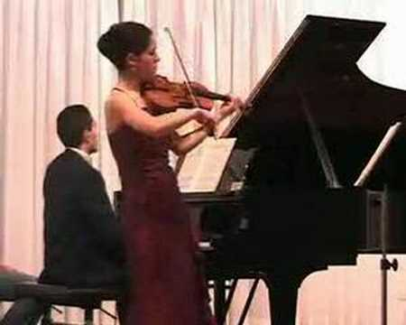 Mozart Sonata  KV 305 for violin and piano, 1st movement