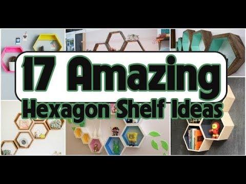 17 Amazing Hexagon Shelf Ideas