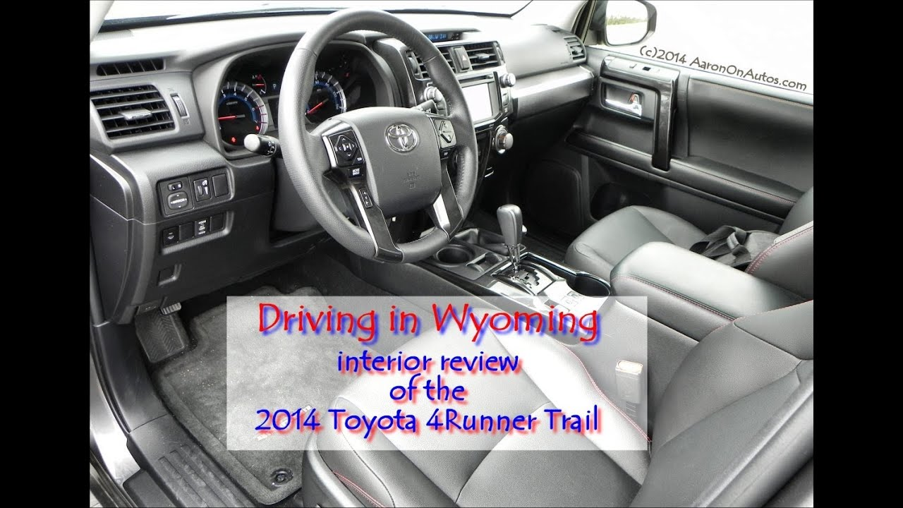 4Runner Trail Premium >> 2014 Toyota 4Runner Trail interior review - YouTube