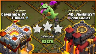 PLENOS con mi TH 10 en GUERRA GREASE CoC | CLASH OF CLANS