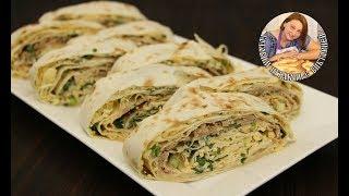 Как приготовить рулет из лаваша и салат с тунцом, простой рецепт.