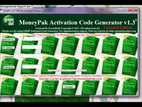 Green Dot Moneypak Generator v1 3   Real Official Update 2K13