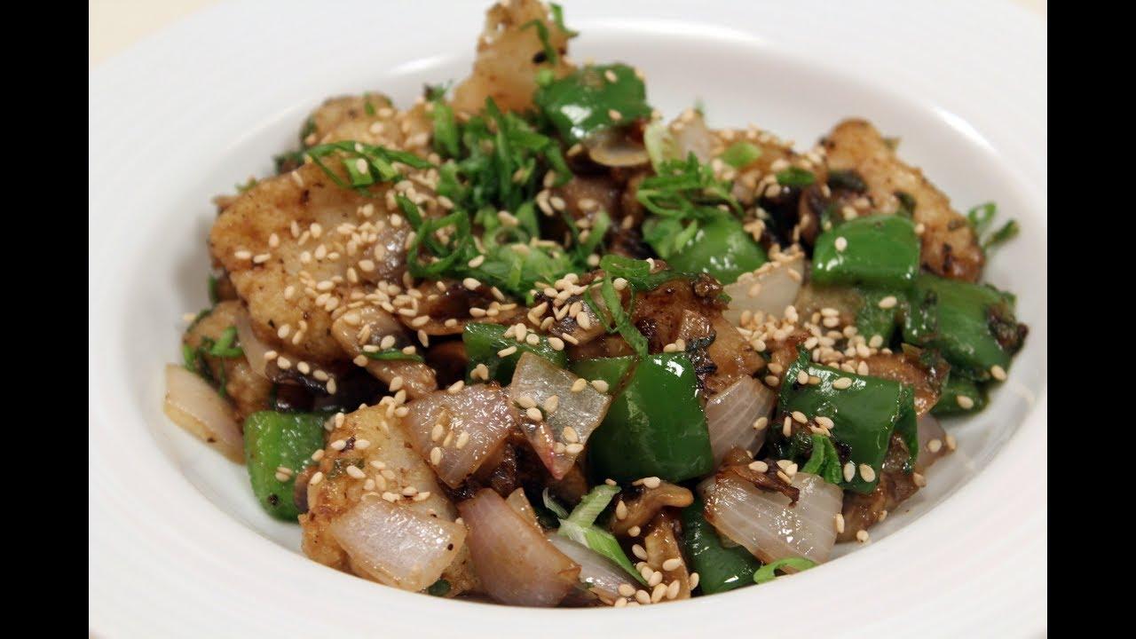 Fried fish in black bean sauce sanjeev kapoor khazana for Fish in black bean sauce