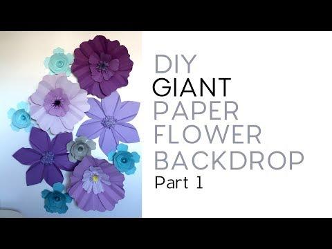 DIY Giant Paper Flower Backdrop - Part 1/3