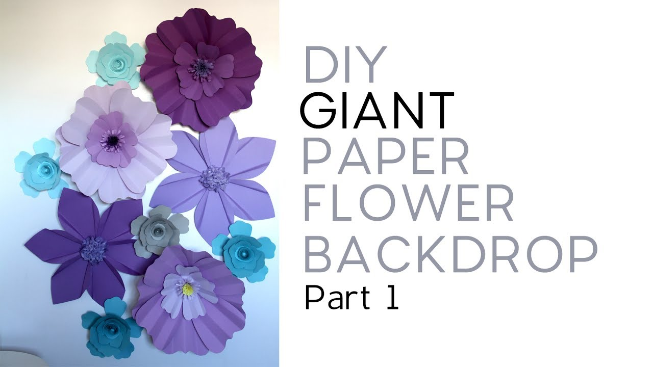 Diy Giant Paper Flower Backdrop Part 1 3 Youtube