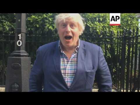 Boris Johnson rallies support for UK PM May