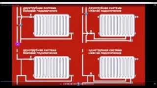 Схема подключения радиаторов отопления. Подключение батарей отопления.(Схема подключения радиаторов отопления. Подключение батарей отопления Ремонт Строительство Дизайн Отделк..., 2015-01-22T11:25:53.000Z)