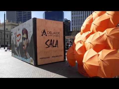 SALA Street Art Walk Adelaide CBD (West End 2016)