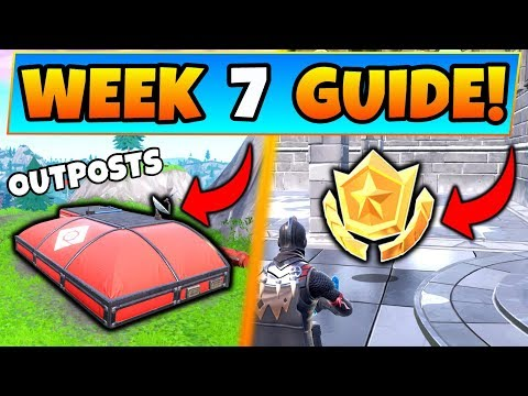 Fortnite WEEK 7 CHALLENGES! - Expedition Outposts Locations, Star (Battle Royale Season 7 Guide) thumbnail