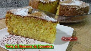 TORTA DE MANZANA DE LICUADORA receta facilita thumbnail