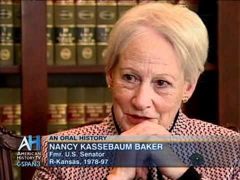 Oral History Interview with Former Sen. Nancy Kassebaum Baker (R ...