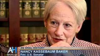 Oral History Interview with Former Sen. Nancy Kassebaum Baker (R-KS)