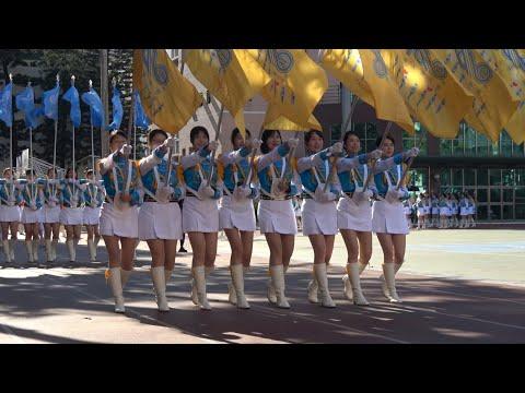 (4K) 2019.12.08 台中女中百年校慶~中女樂儀旗隊358人正式著裝隊服繞場分列式預演
