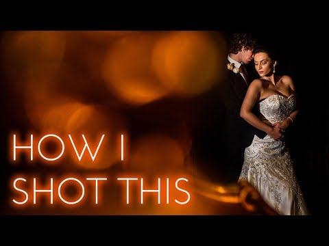 HOW I SHOT THIS | Off camera flash portrait of bride and groom