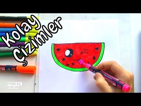 Sevimli Karpuz Adam Nasıl çizilir Kolay çizim Ve Boyama Videoları