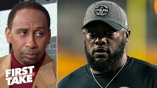 Stephen A. is not confident in the Steelers vs. the Ravens | First Take