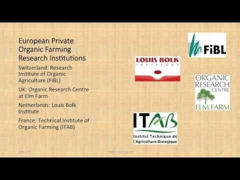 European and North American organic agriculture research policies