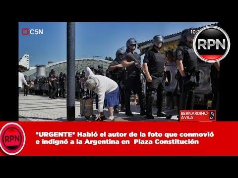 *URGENTE* Habló el autor de la foto que conmovió  e indignó a la Argentina en  Plaza Constitución