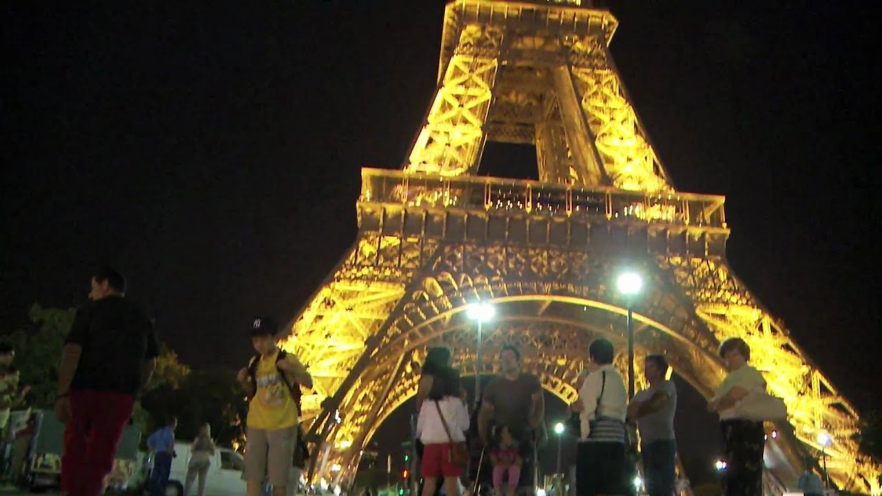 eiffel tower at night in hd - william chiu in paris - youtube