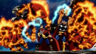 Thor, Beta Ray Bill, & Sif vs Fire Demons part 1 (Avengers: Earth's Mightiest Heroes)
