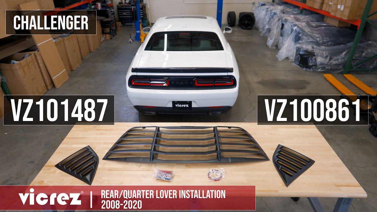 Download Vicrez LV Rear & Quarter Window Louvers   2008-2019 Dodge Challenger   Installation