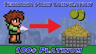 Terraria Top 3 Money Farms/Tricks, Over 100 platinum!!!