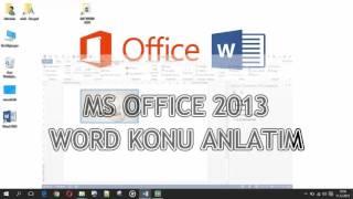 Word 2013 - 7 / 8 (Nesne İşlemleri)