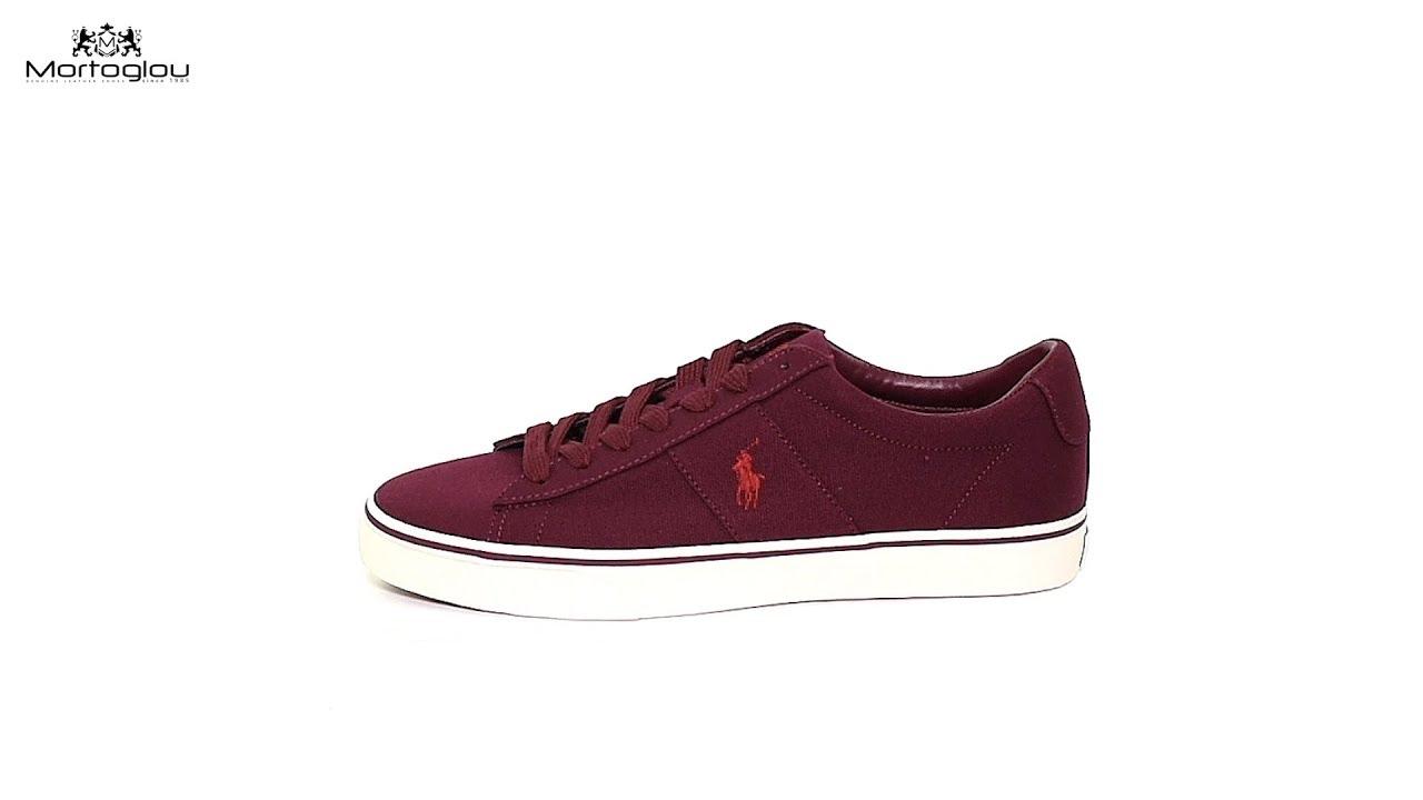 6025025779c Ανδρικά Παπούτσια Casual Polo Ralph Lauren Sayer Bordo Fabric - YouTube