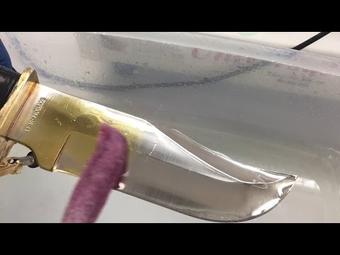 24K Gold Plating on Knife - Stainless Steel - Brush Plating Demo