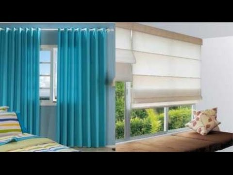 como hacer cortinas modernas youtube