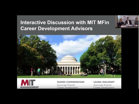 MIT Sloan: MFin Career Development Information Session 2017