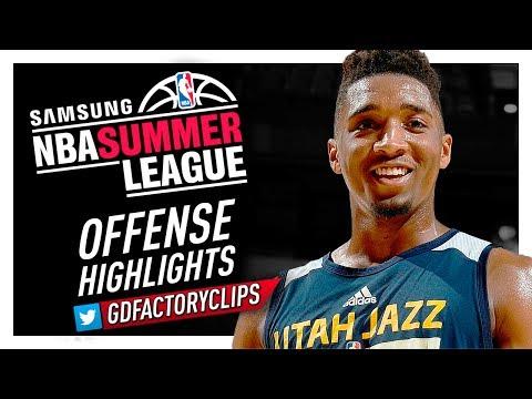 Donovan Mitchell 2017 Summer League Offense & Defense Highlights - Utah Jazz Debut!