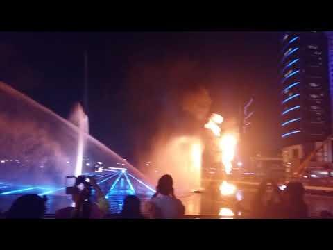 Water Fountain Show at Dubai Festival City Mall