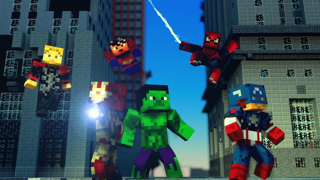 Heroís da Marvel Minecraft 15.6 Mod Marvel Universe Minecraft PE ...