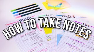 HOW I TAKE NOTES | Note-taking & study tips