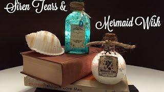 Siren Tears & Mermaid Wish : DIY Potion Bottles : Halloween Prop (Harry Potter Inspired)