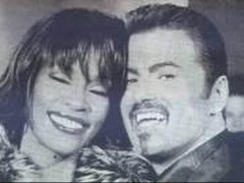 Whitney Houston George Michael   Outside #waiting for Aretha Franklin