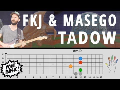 """""""TADOW"""" by FKJ & MASEGO Guitar Lesson - Main Loop, Sax Lines, Improv (How to Play/Tutorial)"""