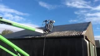 Waterproofing and Sealing an Asbestos Grain Store Roof
