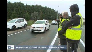 Une manifestante tuée par une automobiliste à Pont-de-Beauvoisin