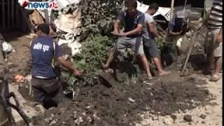 रित्तिएको राजकुलोमा पानी भरिएर बग्न थालेपछि ललितपुरवासी दङ्ग - NEWS24 TV
