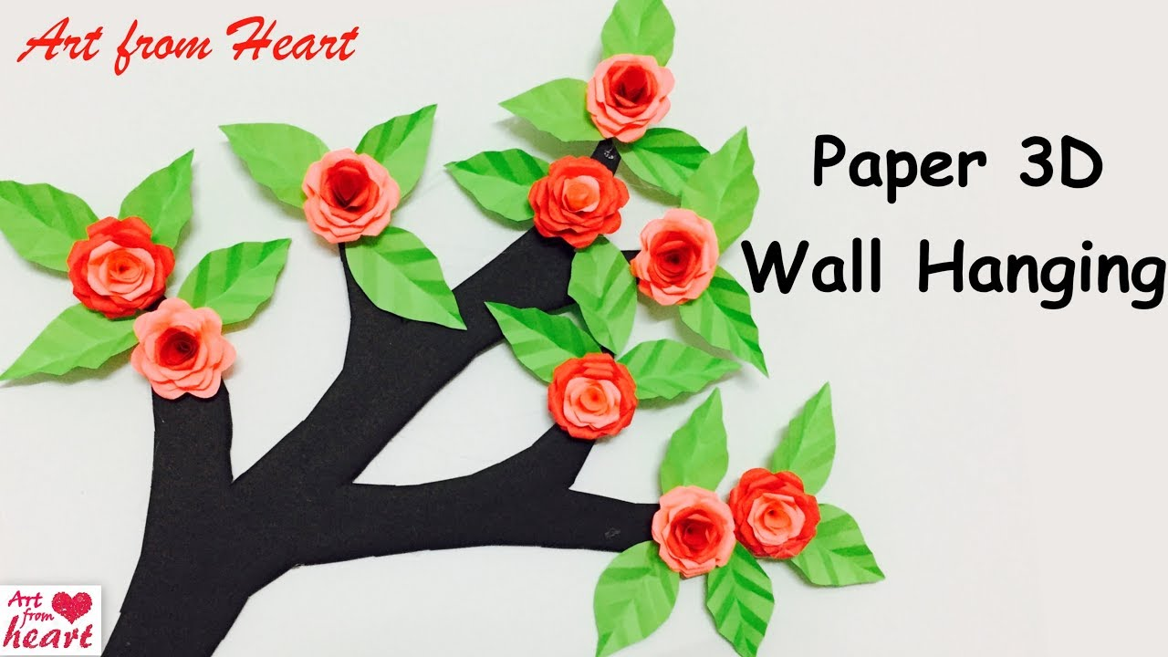 Diy Wall Hanging From Paper Paper Craft Cardboard Craft Home Decoration Idea Youtube
