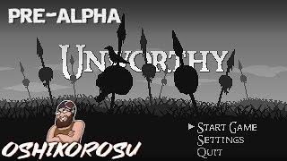 UNWORTHY - Pre-Alpha Demo Gameplay - Dark Souls Inspired 2D Indie RPG!