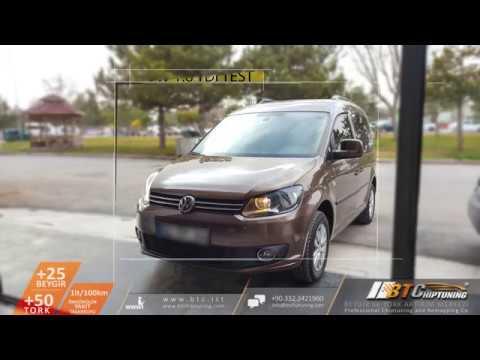 VW CADDY 1.6TDI _ BTChiptuning Uygulaması - Yakıt Tasarruf ve Hızlanma TESTİ