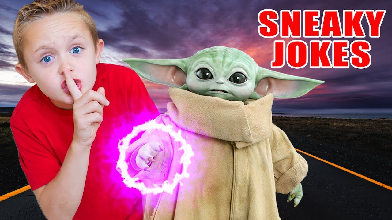 Baby Yoda & Kade Play Sneaky Jokes! The Mandalorian!